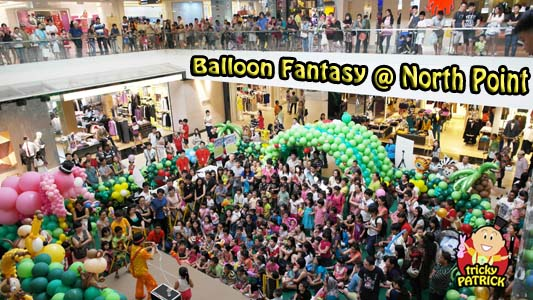 magician singapore performing magic show at north point balloon fantasy