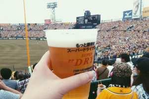 tigers baseball game at hanshin koshien stadium in osaka