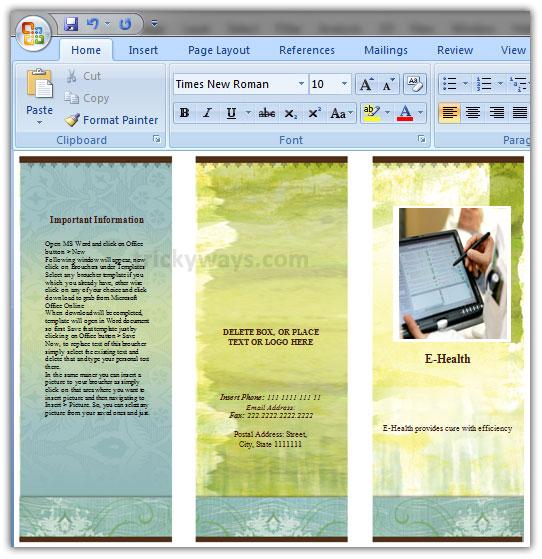 make pamphlet online free