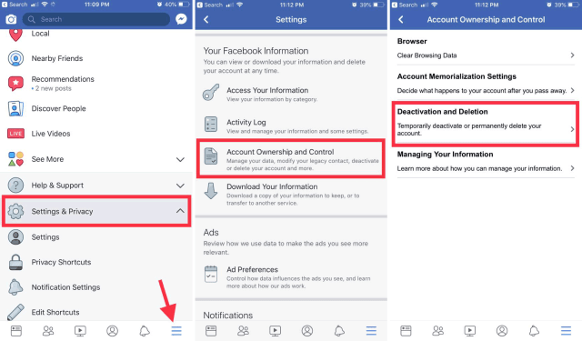How to Deactivate or Delete Facebook Account Properly