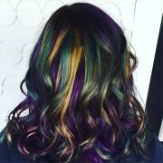 create oil slick hair