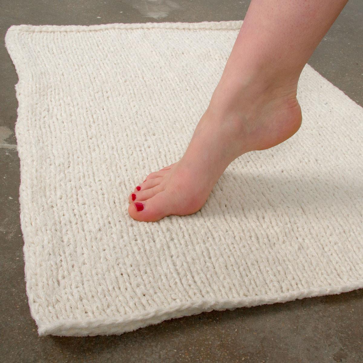 tapis de bain a tricoter soi meme