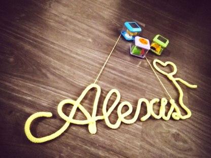 Prénom Alexis au tricotin