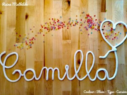 Prénom Camilla tricotin