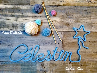 Prénom Célestin au tricotin