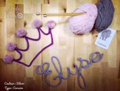 Prénom Elyse tricotin