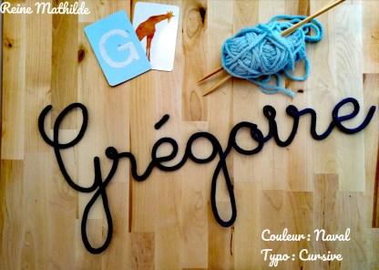 Prénom Grégoire tricotin