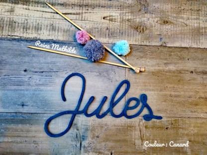 Prénom Jules au tricotin