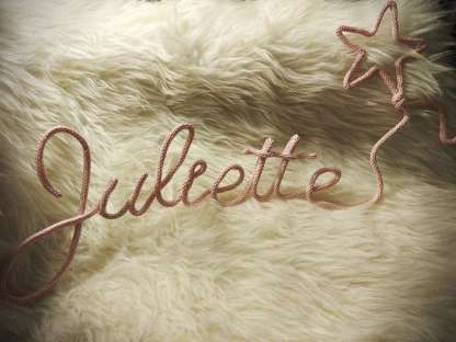 Prénom Juliette au tricotin