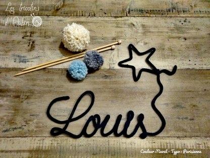 Prénom Louis en tricotin