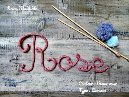 Prénom Rose au tricotin