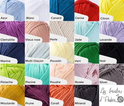 Nuancier couleur tricotin