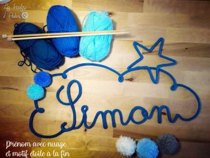 Simon tricotin nuage étoile
