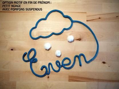 Léon tricotin : nuage en fin de prénom