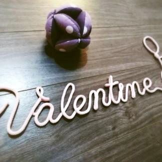Prénom Valentine au tricotin