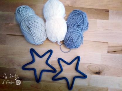 Etoile en tricotin