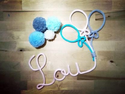Lou tricotin avec 3 ballons