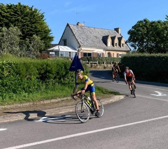Florain Douaron à vélo