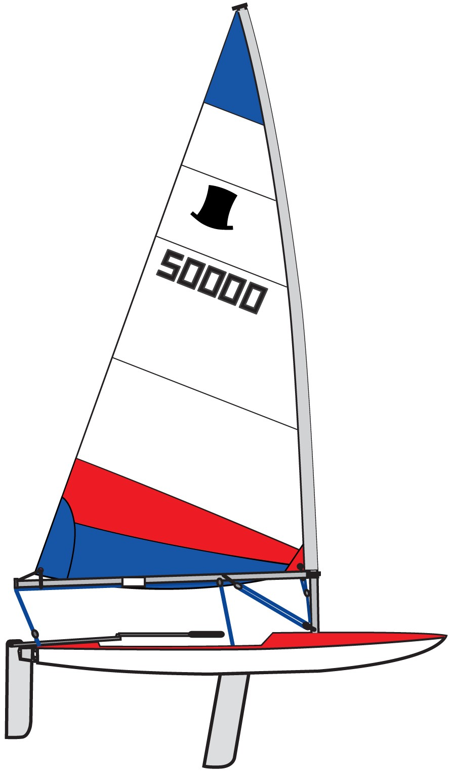 Topper Sail 5 3 Red Amp Blue