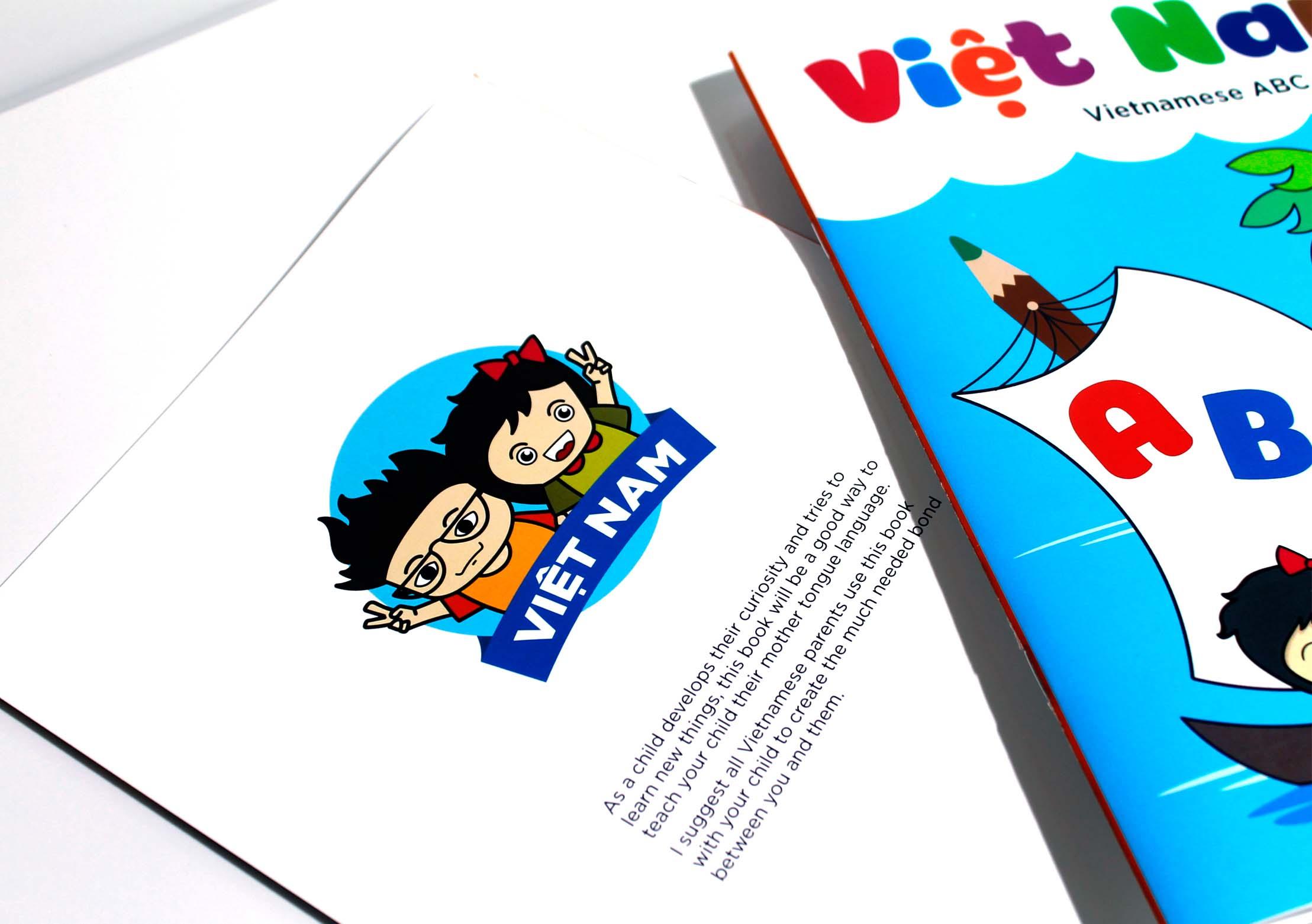 Front Back Book Vietnamese Alphabet Project