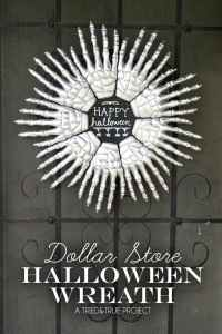 Dollar Store Halloween Wreath - Eighteen25