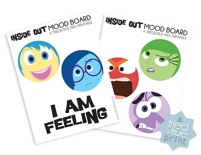 Inside Out Movie Emotions Worksheets