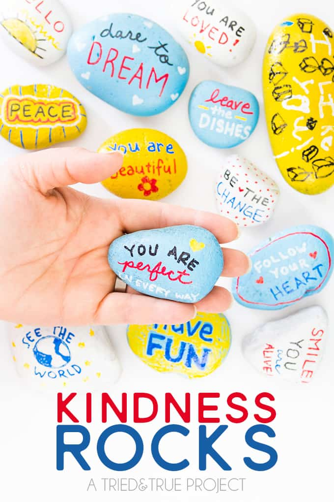 Kindness Rocks Project With Kids Tried Amp True