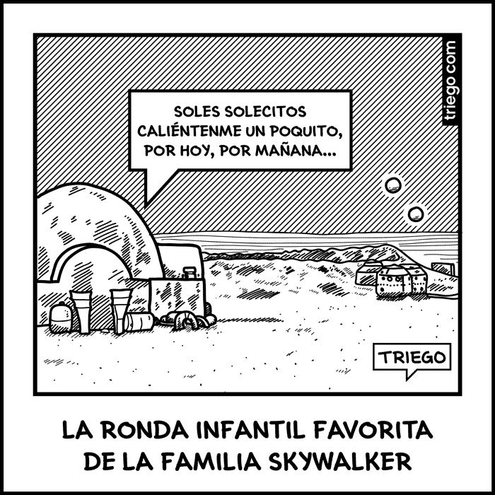 rondas infantiles en tatooine y los skywalker