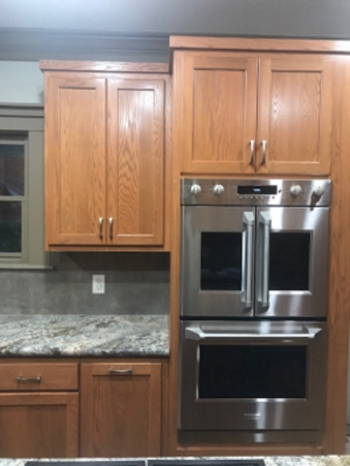 kitchen reface counter lights turns into full remodel trifection new cabinets instead of refacing