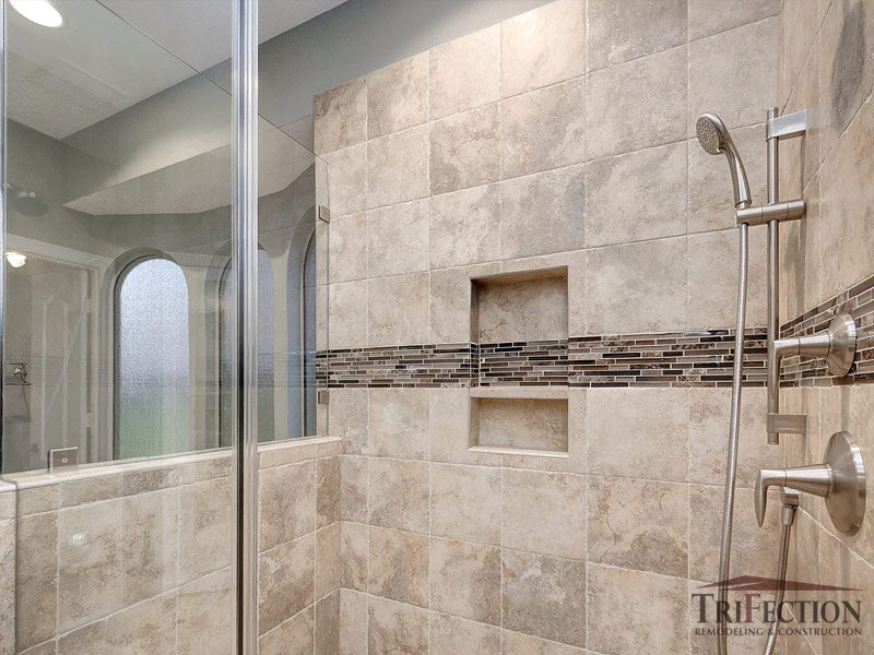 stone linear mosaic accent tile
