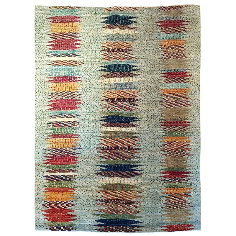 tapis noue main motif contemporain galerie triff