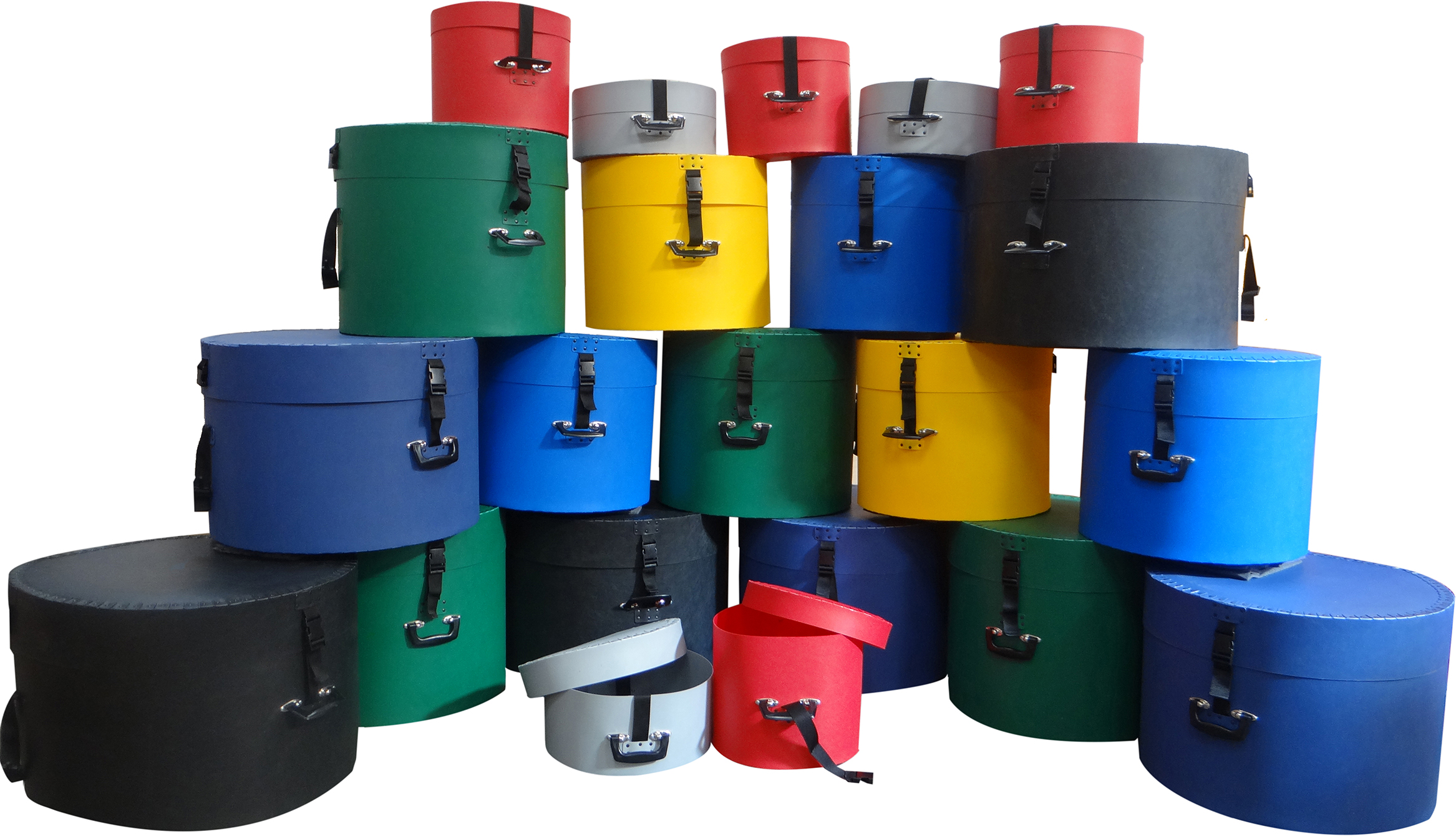 Different Coloured Poly Drum Cases