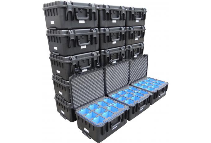 custom foam interior for group of waterproof cases