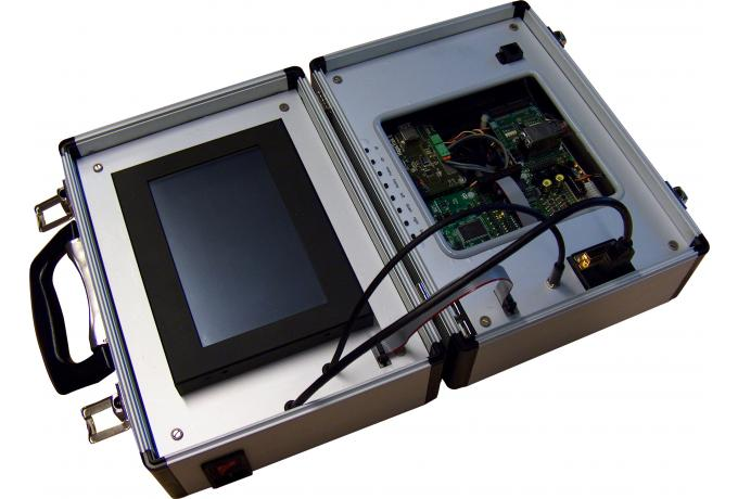 aluminium case with integrated electronics