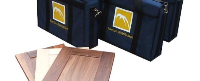 Bespoke padded presentation bag with screen printed logo