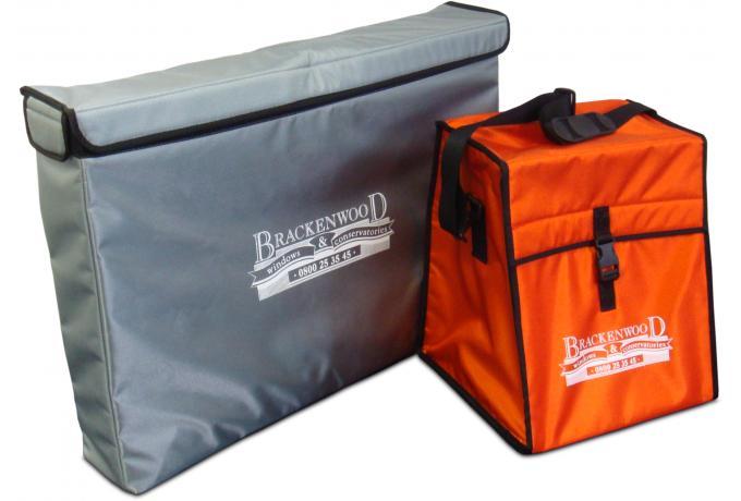 Bespoke padded bag iwth screen printed logo