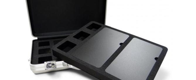 aluminium presentation case with bespoke foam interior