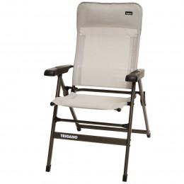 fauteuil camping alu dossier bas slim grege