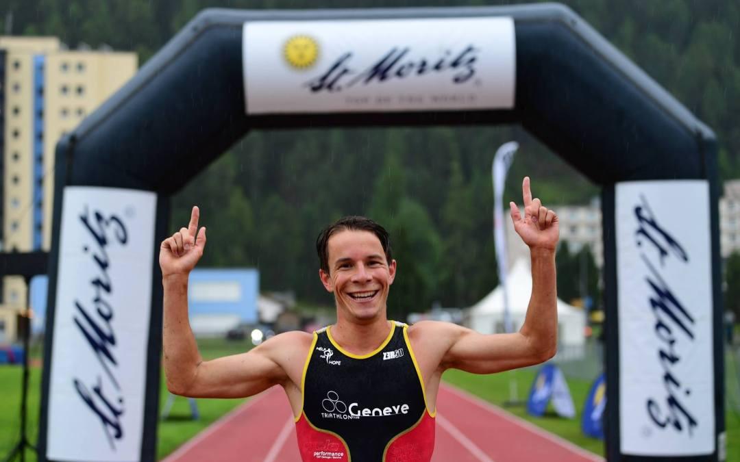 Victoire de Thomas Huwiler au duathlon de St Moritz