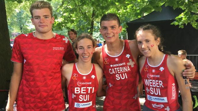 Septième place pour les juniors suisses aux CE Mixed Team Relay