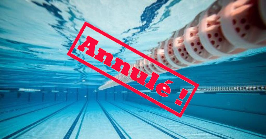 Annulation entrainement natation piscine Chandieu