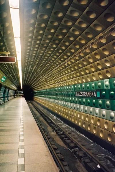 Malostranská station in Praha