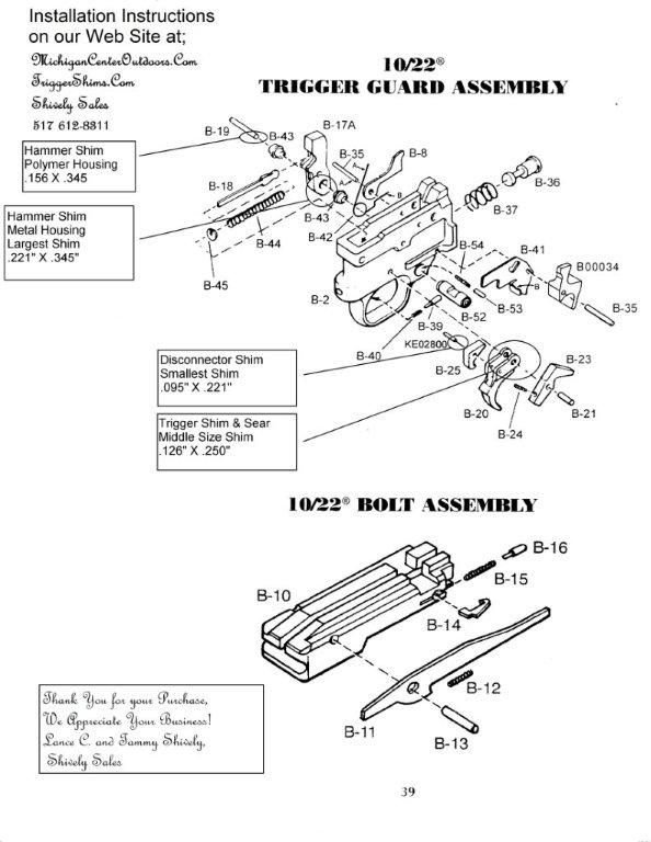 10-22 trigger group diagram