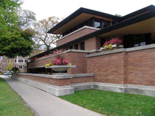 casa roble de Frank Lloyd Wright