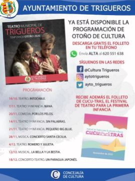 cartel programación teatro 2020