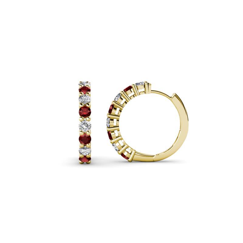 Red Garnet and Diamond (I1