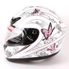 IV2 Matte White Pink Butterfly Helmet