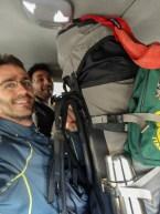 Eu e Junior na Van