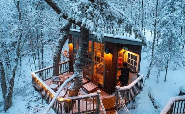 Fairytale Treehouse Hotel With Wood Fired Hot Tub Trill