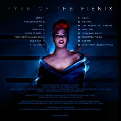 RyattFienix - Ryse of The Fienix (Album Stream) back cover